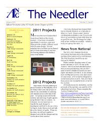 Real Estate Newsletter Template by Sample Njna Newsletter New Jersey Needle Artists