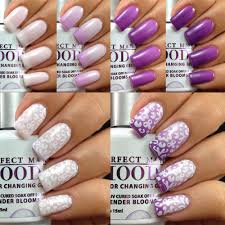 lechat lavender blooms mood color changing gel polish