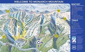 Colorado Ski Resort Map Monarch Trail Map Skicentral Com