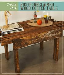 create this rustic reclaimed wood coffee table homesteading