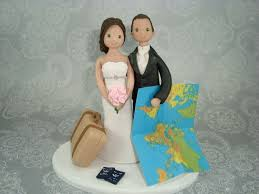 wedding cake toppers theme travel themed wedding cake toppers search tema nunta