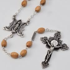 wooden rosary annunciation ghirelli rosary wooden rosary