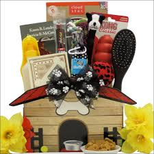 per gift basket congrats on your new pooch pet dog gift basket swank gift baskets