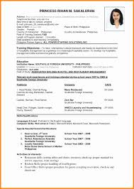 good resume exles 2017 philippines independence philippine resume format elegant resume sle for college student