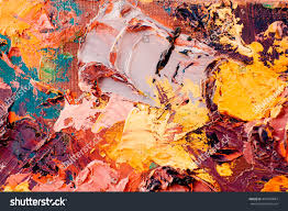 original oil painting on canvas abstract stock illustration