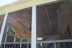 Covered Porch Ceiling Material by Screened Porch With Finished Ceiling U2013 Northern Virginia Deck Builders