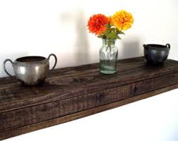 Driftwood Floating Shelves by Pallet Wood Shelf Etsy