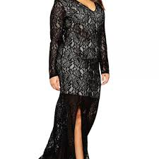 tomcarry women long lace tight lace decorated gown black tomcarry