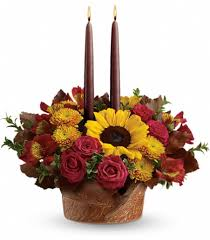fall flower arrangements teleflora s thanksgiving centerpiece