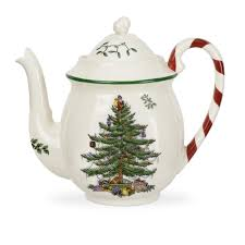 the spode tree peppermint teapot is for serving
