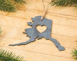 colorado co state metal ornament recycled