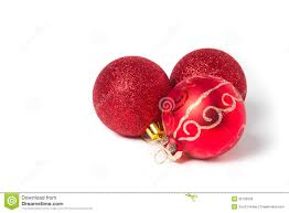 red christmas ornaments ball on white royalty free stock images