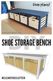 Woodworking Plans Toy Garage by Diy Shoe Storage Bench Free Plans Scrapworklove