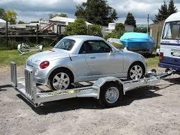 single axle car transporter for light car prescott trailers