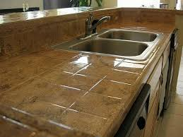 Tile Kitchen Countertop Designs Tiled Countertops In Kitchen All Home Decorations Wonderful