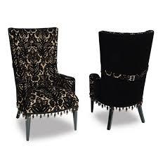 damask chair glam chair black velvet damask haute house home