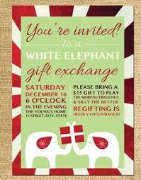 diy printable christmas party invitation white elephant party