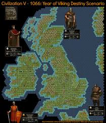 Map Of Medieval England by Civilization 5 Scenario 1066 Year Of Viking Destiny Map