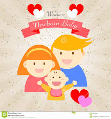 welcome newborn baby happy family stock illustration image 58239987