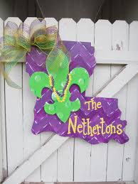 personalized mardi gras personalized mardi gras louisiana wooden door hanger fleur de