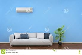 Air Conditioner For Living Room by Modern Interior With Sofa Plant And Air Conditioner Stock