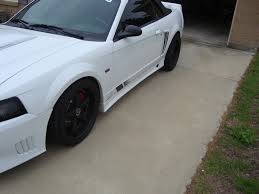 White Mustang Black Wheels 02 Saleen New Wheels U003d New Pictures V6 Mustang Forums