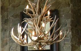 Deer Antler Light Fixtures Chandelier Epic Deer Antler Chandelier In Home Designing