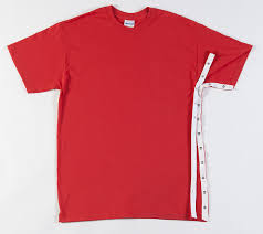 2 t shirt style orthopedic upper torso uses w snaps surgery wear