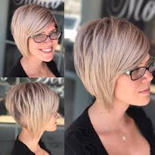 photos of an a line stacked haircut women s choppy blonde stacked bob short hairstyles