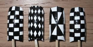 perfect and easy classic black and white checkered nail tutorial