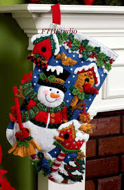 snowman with birds 18 bucilla felt kit 86234