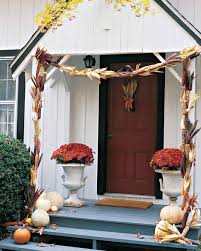 thanksgiving front door decorations fall harvest decorating martha stewart