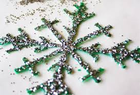Glitter Snowflake Christmas Tree Decorations by 10 Homemade Christmas Ornaments That Kids Can Make Parentmap