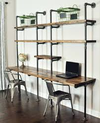 desk with shelves on side desk with shelves shelves above desk shelves above desk with room