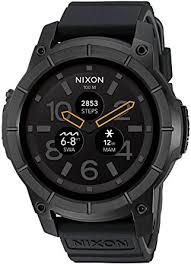 black friday smartwatch amazon com nixon u0027mission u0027 smartwatch color black model a1167