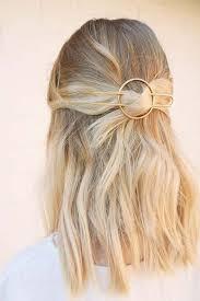 hair barrette brass hair slide large metal hair barrette rustic copper hair clip