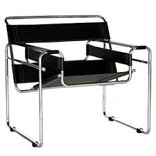 Accent Chairs Black And White Amazon Com Baxton Studio Modern Leather Accent Chair Black And