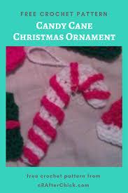 candy cane christmas ornament crochet pattern crafterchick