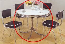 chrome round dining table coaster retro round dining kitchen table in chrome whit https