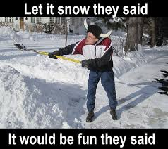 Shoveling Snow Meme - let it snow