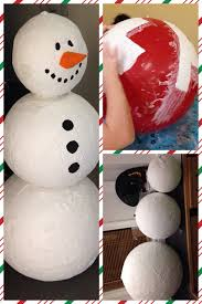 diy christmas snowman craft made using giant balloons from ebay