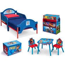 paw patrol kids table set nick jr paw patrol room in a box with bonus chair toy bins paw