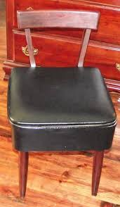 mid century modern singer sewing chair with storage vulcanlyric