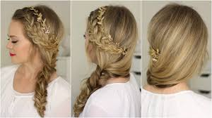 plait at back of head hairstyle french braid and side fishtail braid youtube