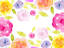 romantic watercolor ppt backgrounds flowers templates ppt grounds