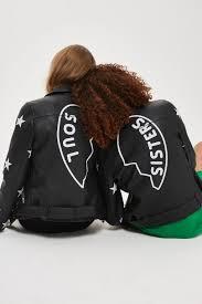 biker jacket soul faux leather biker jacket topshop usa