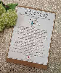 wedding day cards from to groom groom husband to be wedding card personalised groom card