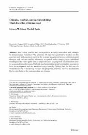 climate conflict and social stability what does the evidence