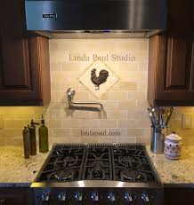 Kitchens With Backsplash Tiles by Small Kitchen Back Splash Medallions Mosaic Stone And Metal