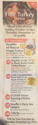 shoprite free thanksgiving turkey deal explained